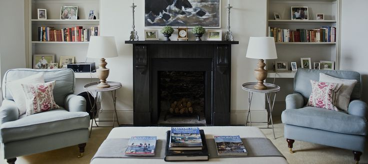 Finny's Bluebell armchairs in Duck Egg pure Belgian linen enjoying life in Devon