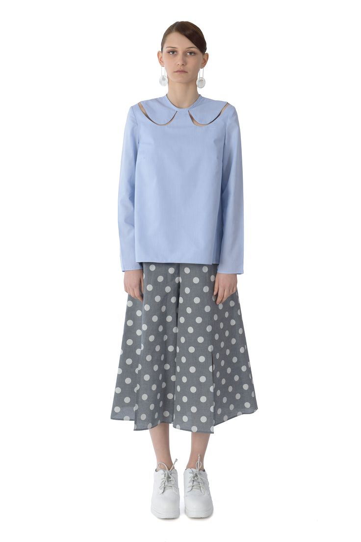 Fay cut collar uniform top www.cajun.ro #delicatemood, #femininlook, #simplicity