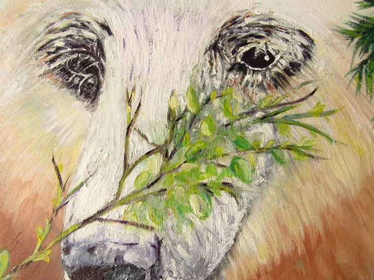 "Close up of Mama Spirit Bear Title: Mama Spirit Bear & Cubs Media: Oil on Canvas Size: 30"" x 30"" Price: $500 Cdn Artist: Zipolita aka Tina Winterlik http://tinawinterlik.blogspot.ca/2015/10/mama-spirit-bear-cubs.html"