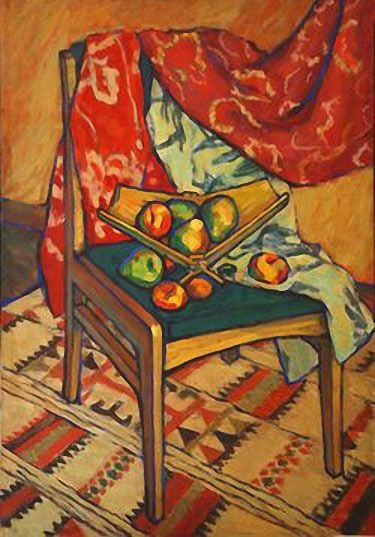 Still-life with a Chair. Alvin Shpade (1935-)  The initial artistic education Shpade received at the Ashkhabad Art School. She moved to Karakalpakstan in 1960 where she met with Savitskiy. She worked at the Artistic Fund of the Karakalapak and simultaneously at the department of art history of the Karakalapak, where she had been invited by Savitskiy. These years in many aspects determined not only the whole life of the artist but also a circle of her interests. A.Shpade continued her study…