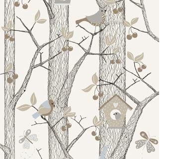Boråstapeter Fåglar (Engelska Tapetmagasinet)