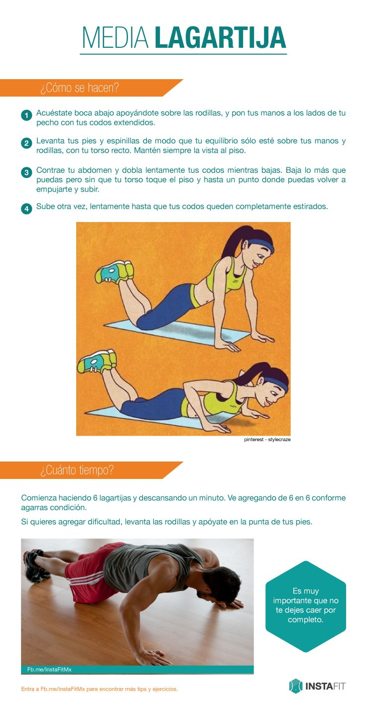 Cómo hacer lagartijas, (push-up)