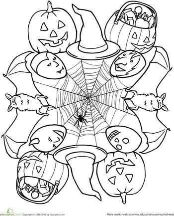 Worksheets: Halloween Mandala