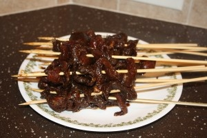 Asian Flank Steak Skewers