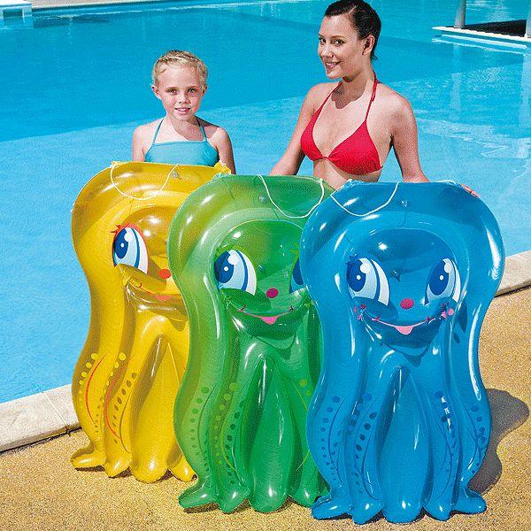 Zeer voordelige speelgoedwinkel, voor al uw speelgoed, zoals Vrolijk gekleurd octopus luchtbed,  Opblaasbaar. Bestel Vrolijk gekleurd octopus luchtbed voor de