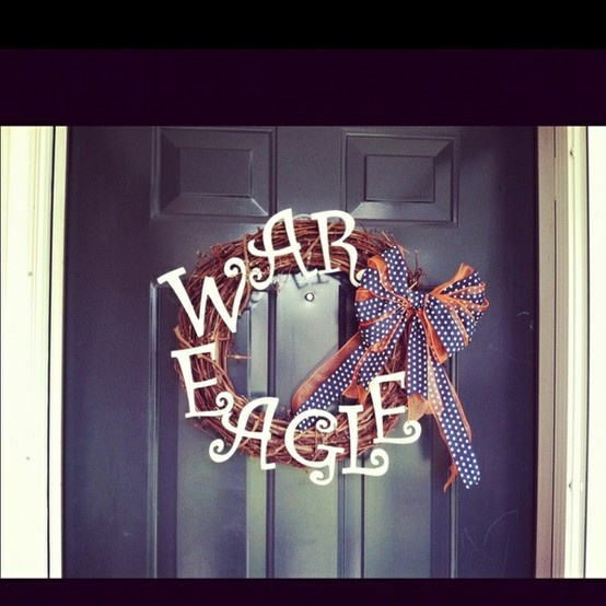 Auburn wreath :) jonathan would loveee