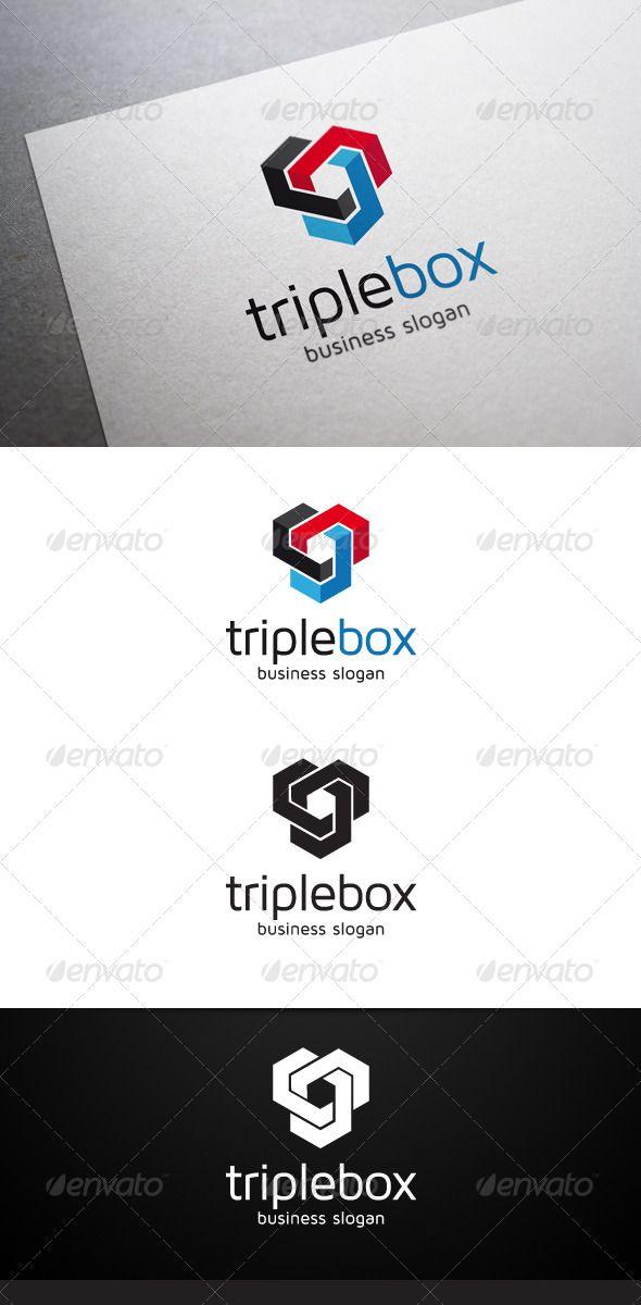 Triple Box Logo - Abstract Logo Templates