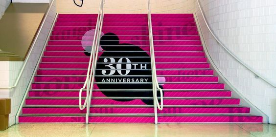 Conference & event signage: Stair graphics