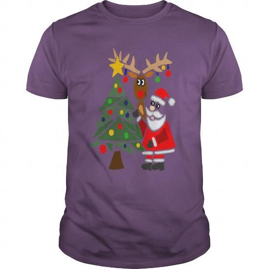 Awesome Tee This girl love Funky Cool Funny Santa Claus Christmas Tree and Rudolph T shirts