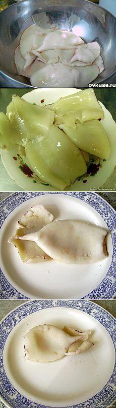 Как правильно варить кальмары - Простые рецепты Овкусе.ру