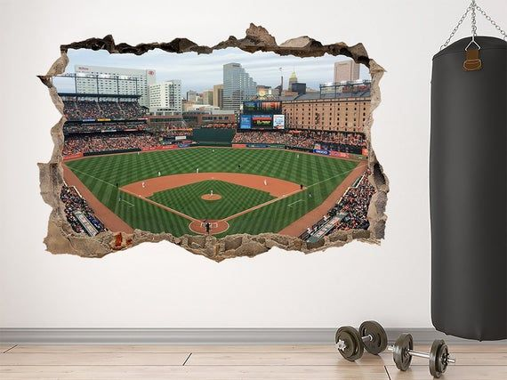 Camden Yards Stadium Decal Baseball Stadium Camden Yards Decal Etsy In 2020 Baseball Wall Art World Map Art Baseball Stadium