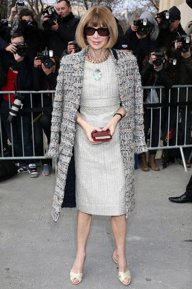 Anna Wintour. attends the Chanel show as part of the Paris Fashion Week Womenswear Fall/Winter 2014-2015 on March 4, 2014 in Paris, France.