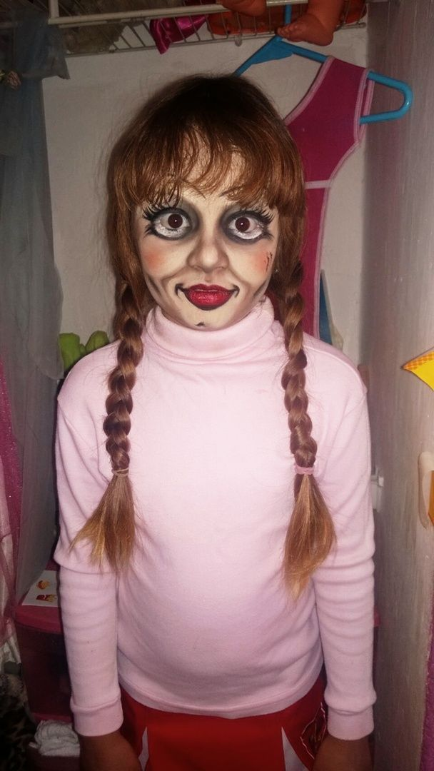Maquillaje Anabelle Makeup In 2019 Creepy Halloween