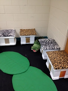 And How are the Children?: Animal Print Themed Classroom Reading Area