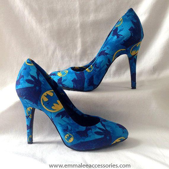 Batman Heels Size by KalElle on Etsy