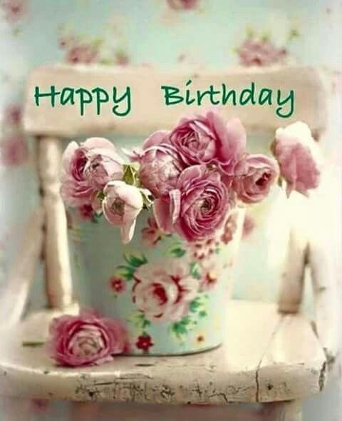 Shabby chic hb   Happy Birthday   Happy birthday, Happy ...