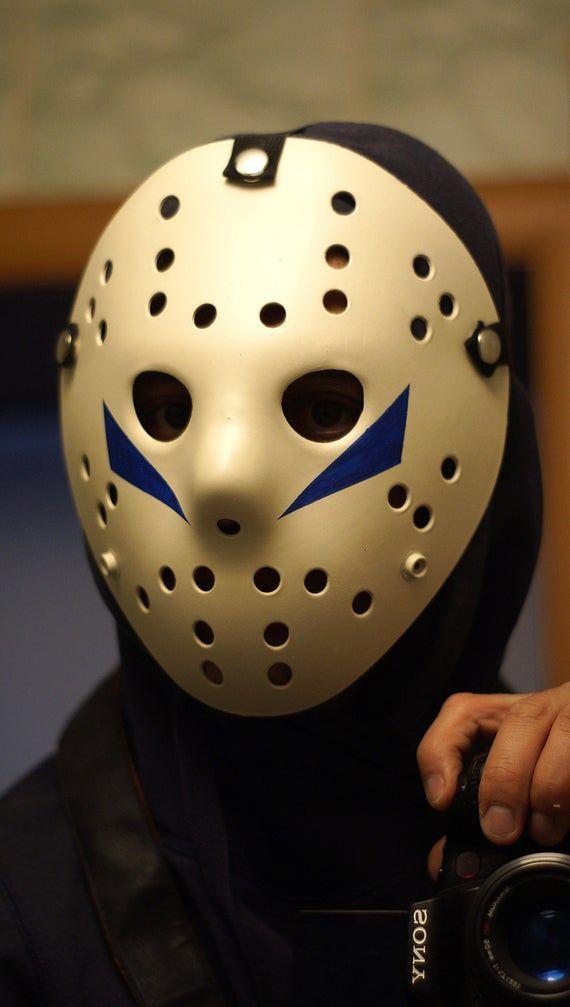 Replica Friday The 13th V A New Begining 1985 Jason Hockey Mask Jason Voorhees Hockey Mask Cospla In 2020 Hockey Mask Jason Voorhees Hockey Mask Jason Voorhees