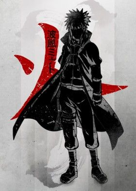 4th hokage anime manga minato kun kill strong crimson naruto japan japanese minimal cool vintage fanfreak fan art ink inking coat cloak symbol red ywllow flash boot headband jacket kakashi father strongest demon fast character