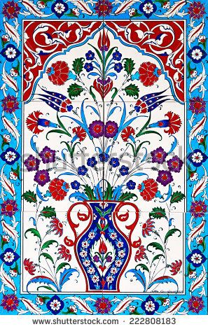 ceramic tiles floral patterns from Turkey