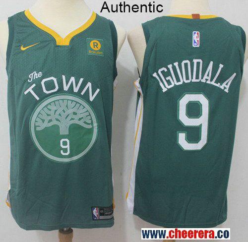 8f152cdce Men s Nike Golden State Warriors  9 Andre Iguodala Green NBA Authentic  Jersey