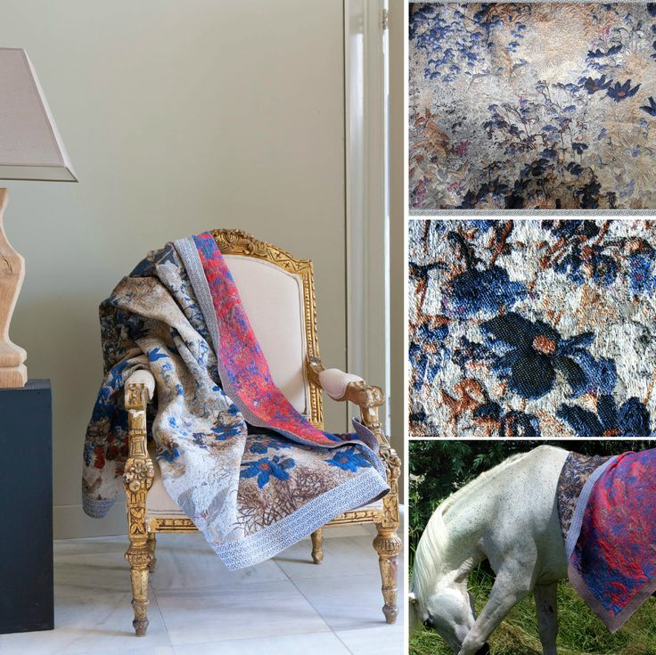 #wovenwonders #textiledesign  #woven #fabric #plaid #flower #flora #blue #red #geweven #stof #bloem #blauw #mini #moodboard #minimoodboard #leemwonen #blogazine