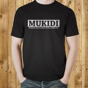 Jual Kaos 'Mukidi' Kata Kata Tulisan Lucu Kocak Unik Keren T Shirt Distro Online