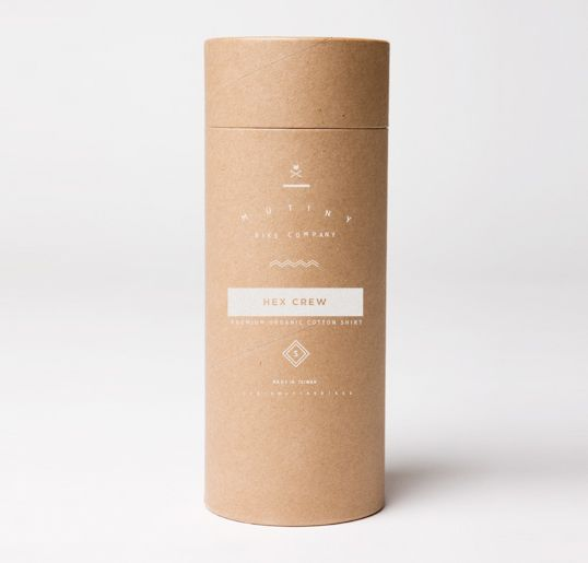 Mutiny / love these screenprinted kraft tubes from Caleb Owen Everitt for Mutiny bicycle company.