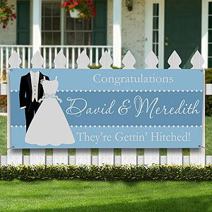 Wedding Shower Personalized Banner