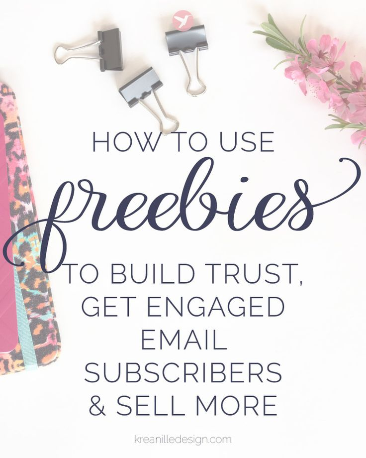 How to use freebies to build trust, get engaged email subscribers and sell more. Tips & tricks for content upgrades, workbooks, cheatsheets and more. Click to read and pin it for later!