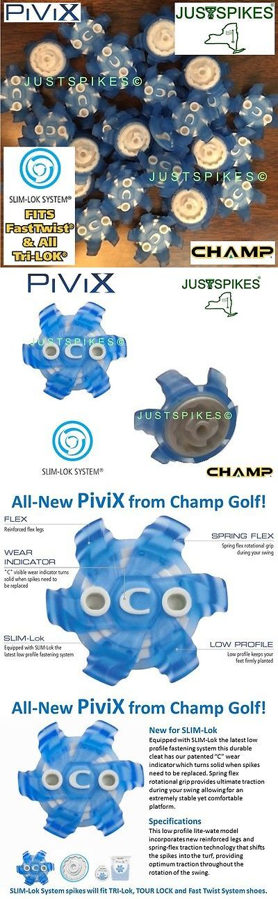 Golf Spikes 66814: 64 New Champ Pivix Slim-Lok Golf Spikes And Fits Tri-Lok And Fast Twist Justspikes BUY IT NOW ONLY: $51.09