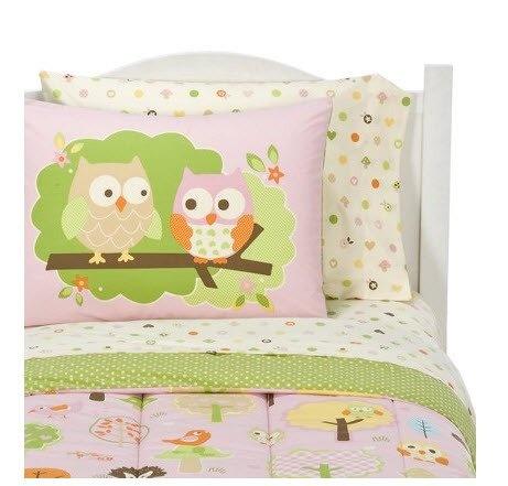 Circo Girls Love N Nature Owl Trees 5 Pc Comforter Sheets