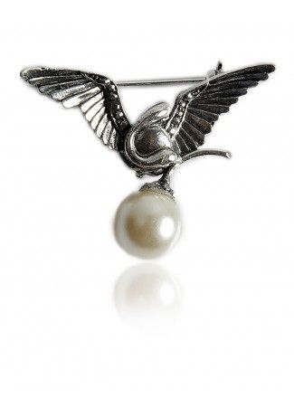 Buy Winged Stone Encrusted Broach for Cheap in India - Thia