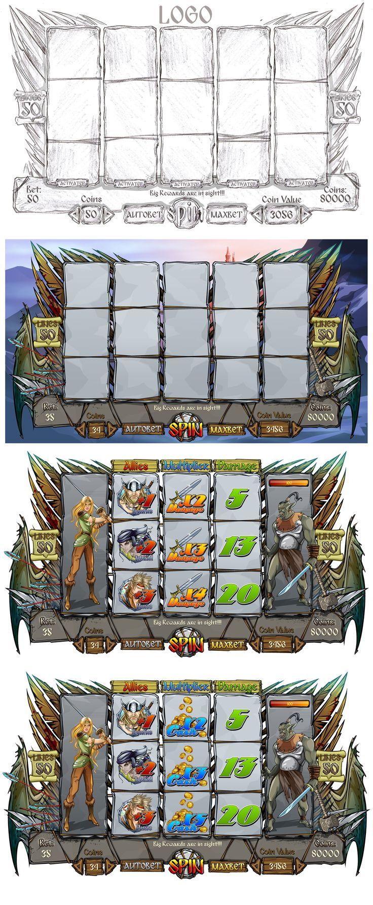 "Graphic design of reel for the game slot-machine ""Legendlore"" http://slotopaint.com/"