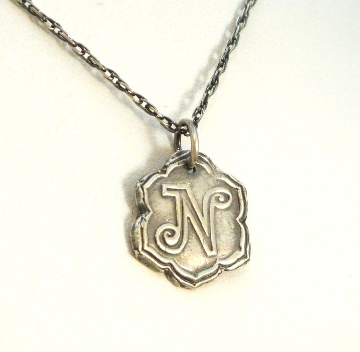 Lotus flower initial necklace wax seal jewelry look