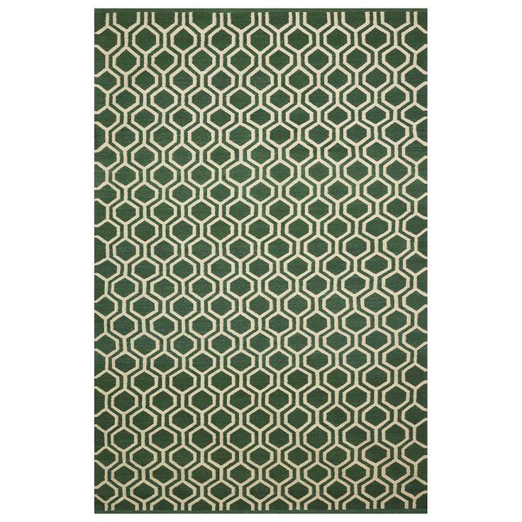 Varanasi teppe 180x272, grønn/offwhite – Chhatwal & Jonsson – Kjøp møbler online på Room21.no