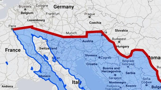 What the U.S.-Mexico border wall would look like in Europe ...