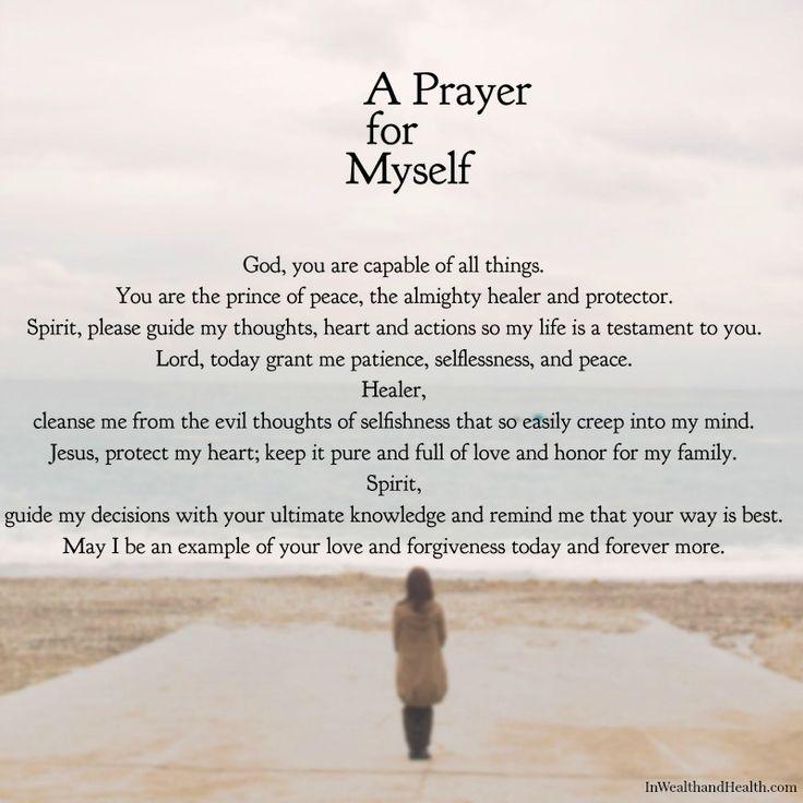 A Prayer for myself