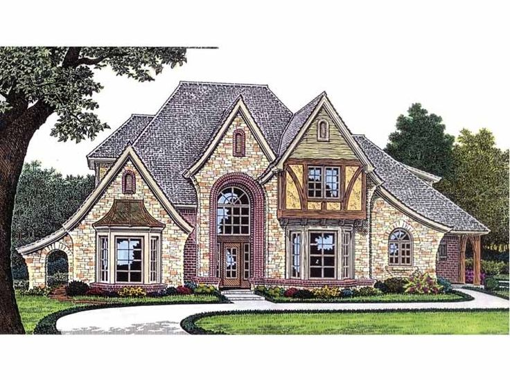 52 best storybook homes images on pinterest fairytale Custom estate home plans