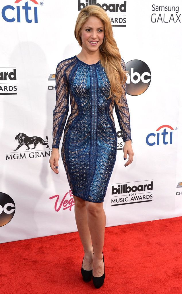 This sheath reminds us of a mini version of her ensemble from the 2014 ACM Awards. And unfortunately, we didn't like it then and we don't like it now.