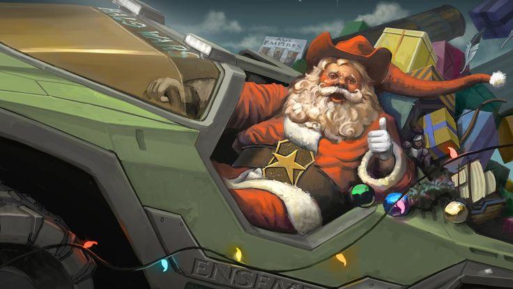 Santa Halo Presents - http://www.fullhdwpp.com/holidays/christmas/santa-halo-presents/