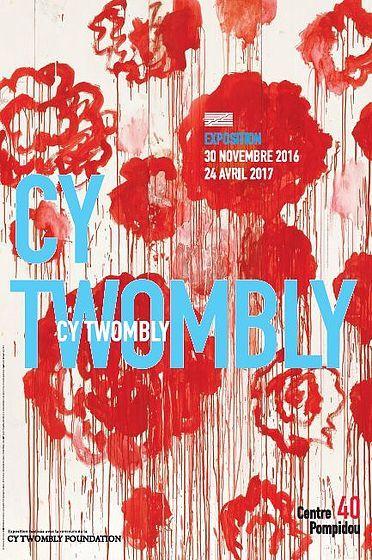 L'exposition Cy Twombly au Centre Georges Pompidou jusqu'au 24 avril 2017...
