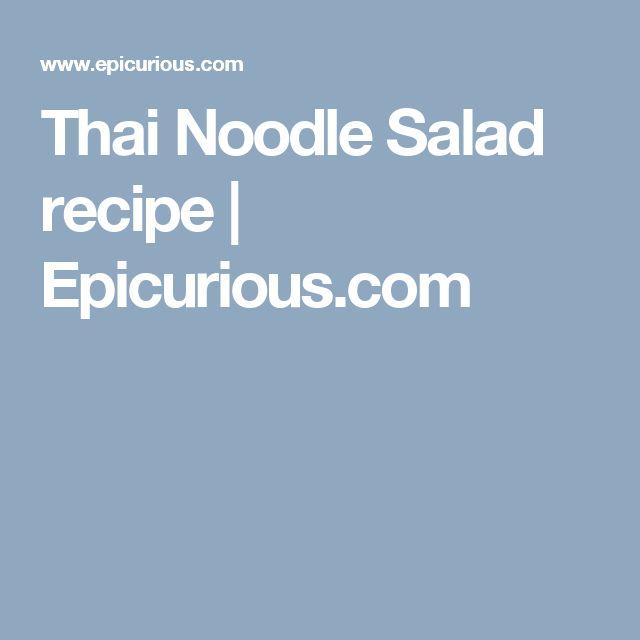 Thai Noodle Salad recipe   Epicurious.com