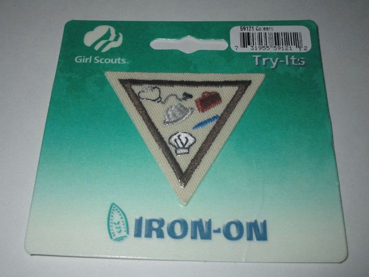 Girl Scout Brownie Iron On Badge  Careers 59121 New -7323