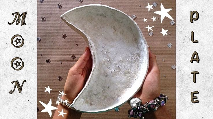 How to make a Crescent Moon Plate | Easy DIY Room Decor