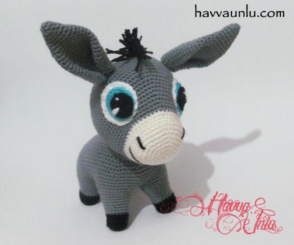 Amigurumi Horse Ears : Amigurumi esek oyuncak oyuncaklar ve yap m