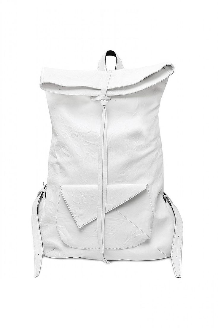 Void Shoes women's white washed leather backpack
