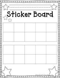 Fluttering Through First Grade: Stick to Good Behavior Linky Freebie 10 frames sticker chart