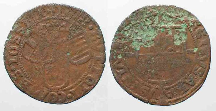 1546 Liege, Bistum LIEGE Brule van 4 Sols 1546 GEORGE OF AUSTRIA billon F-VF VERY RARE!!! # 79183 F-VF