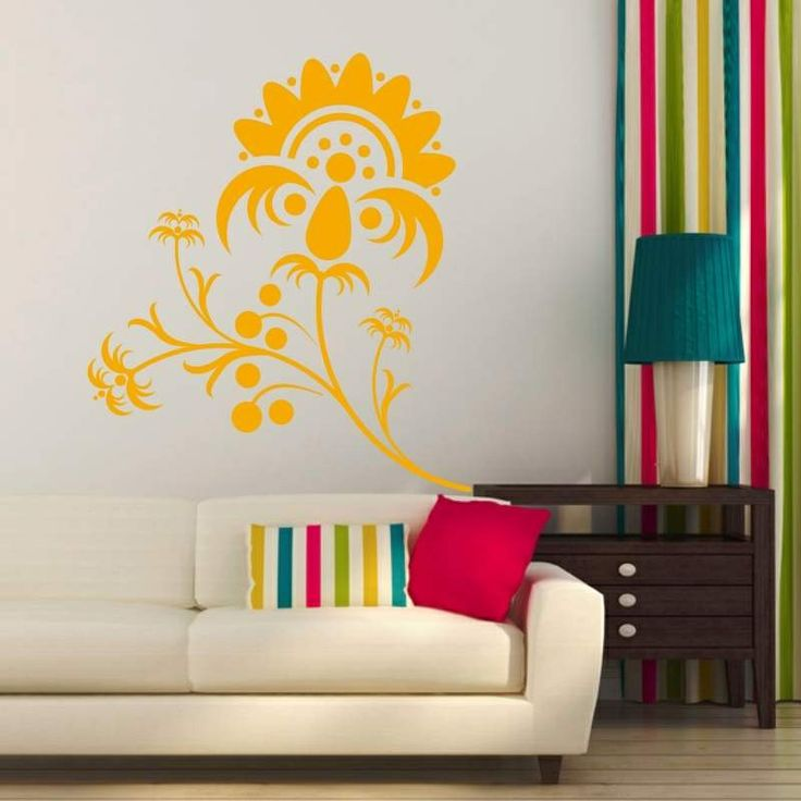 Szablon malarski - Floral kwiatek | Paint template - Floral Flower | 31,49 PLN #paint #template #flower #plant #home_decor #interior_decor #design #wall_decor #floral #szablon #szablon_malarski #kwiat #roślina #dekoracja_ściany #dekoracja_wnętrza