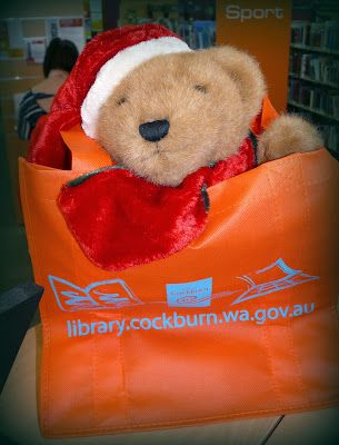 Christmas Adventures of Bing the Library Bear #14. Bing in a bag.